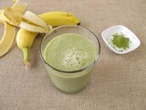 Matcha shake with banana Royalty Free Stock Images