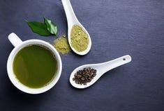 Matcha tea Royaltyfri Foto