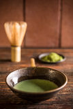 Matcha tea in bowl Royalty Free Stock Photos