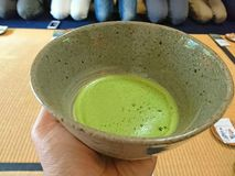 Matcha tea in the cup Royalty Free Stock Photography