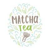 Matcha tea label. Royalty Free Stock Photo