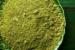 Matcha tea powder for japanese ceremony Stock Images
