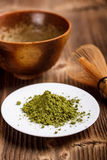 Matcha tea powder Stock Photography