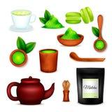 Matcha Tea Realistic Set Royalty Free Stock Photos