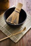 Matcha Tea Set Stock Photo