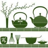 Matcha-Teezeit Stockfoto