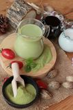 Matcha zielona herbata i zielona herbata proszek Obraz Royalty Free