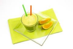 Matcha, zielona herbata, pomarańcze Obrazy Stock