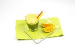 Matcha, zielona herbata, pomarańcze Obraz Stock