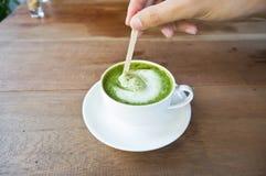 Matcha zielonej herbaty latte Obrazy Royalty Free