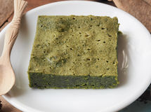 Matcha zielonej herbaty punktu tort Zdjęcia Stock
