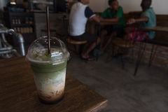 Matcha zielonej herbaty smoothie zdjęcie stock