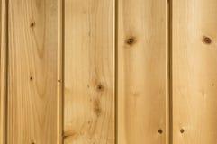 Matchboards del techo de la madera de pino Foto de archivo
