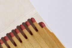 Matchbook closeup shot. Top view. Royalty Free Stock Photography