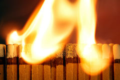 Matchbook Fire Stock Image
