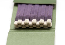 Matchbook isolated. A matchbook close up shot Royalty Free Stock Image
