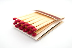 Matchbook on white Stock Images