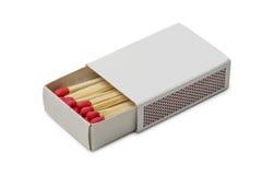 Matchbox с красными спичками Стоковое Изображение RF