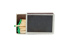 Matchbox. A matchbox with a blank top, easily add your own text, images etc stock photos