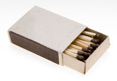 Matchbox. A matchbox with a blank top royalty free stock photos