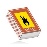 Matchbox, abstract closed matchbox Royalty Free Stock Images