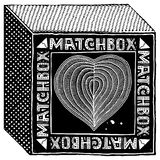 Matchbox black woodcut Royalty Free Stock Photography