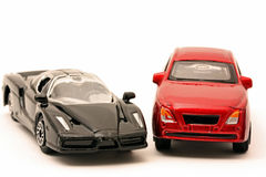 Matchbox car and truck Royalty Free Stock Image