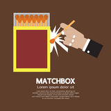 Matchbox Container Royalty Free Stock Photography