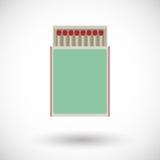 Matchbox flat  icon Royalty Free Stock Image