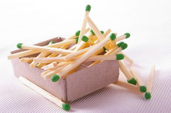 Matchbox full of matches. Isolated Royalty Free Stock Photo