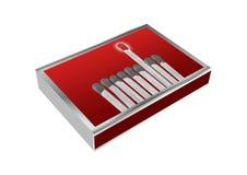 Matchbox isolated on white Royalty Free Stock Photos