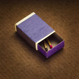 Matchbox and last match Royalty Free Stock Image