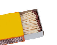 Matchbox with many matches Royalty Free Stock Images
