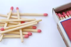 matchbox matchs Zdjęcie Stock