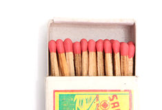 Matchbox old fashioned Royalty Free Stock Photo