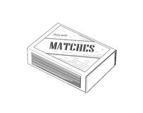 Matchbox - vector illustration. Stock Images
