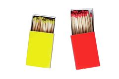 Matchboxes. Royalty Free Stock Photo
