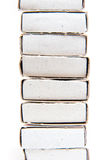 Matchboxes pile Royalty Free Stock Photos