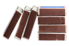 Matchboxes on a white background Royalty Free Stock Photo