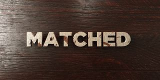 Matched - grungy wooden headline on Maple  - 3D rendered royalty free stock image Royalty Free Stock Images