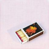 Matcher i en boxas Arkivfoto