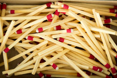 Matcher i tändsticksask Royaltyfri Fotografi