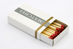 Matches. A package of matches, isolated on white background royalty free stock images