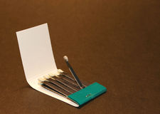 Matches. Pack with one match burnt Stock Photography