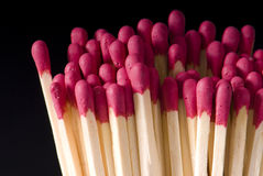 Matches. Match on a black background Stock Photo