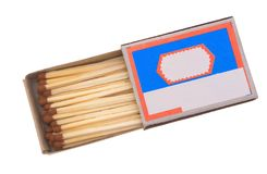 Matches. Matches in a box on a white background Royalty Free Stock Images
