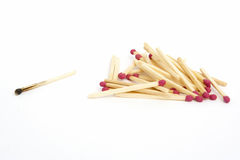 Matches. Household matches isolated on a white background Royalty Free Stock Photos