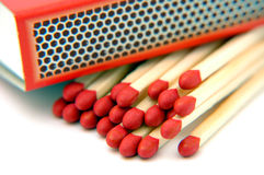 Matches. Closeup of matches and box royalty free stock photo