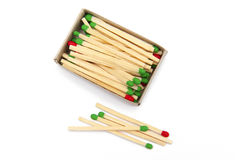 Matches. On the white background Royalty Free Stock Images