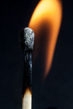 Matches. Macro and fore and smoke Royalty Free Stock Photography